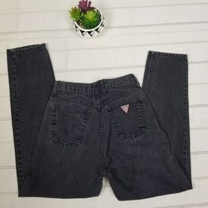 Guess Jeans - Guess vintage 90s black high waisted mom jeans 29